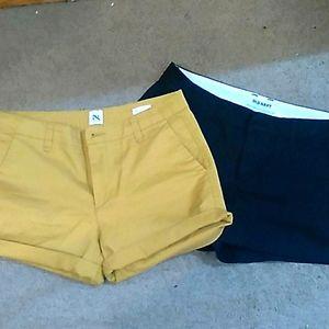 Bundle Mustard Gap/Blk Old Navy Dress Shorts